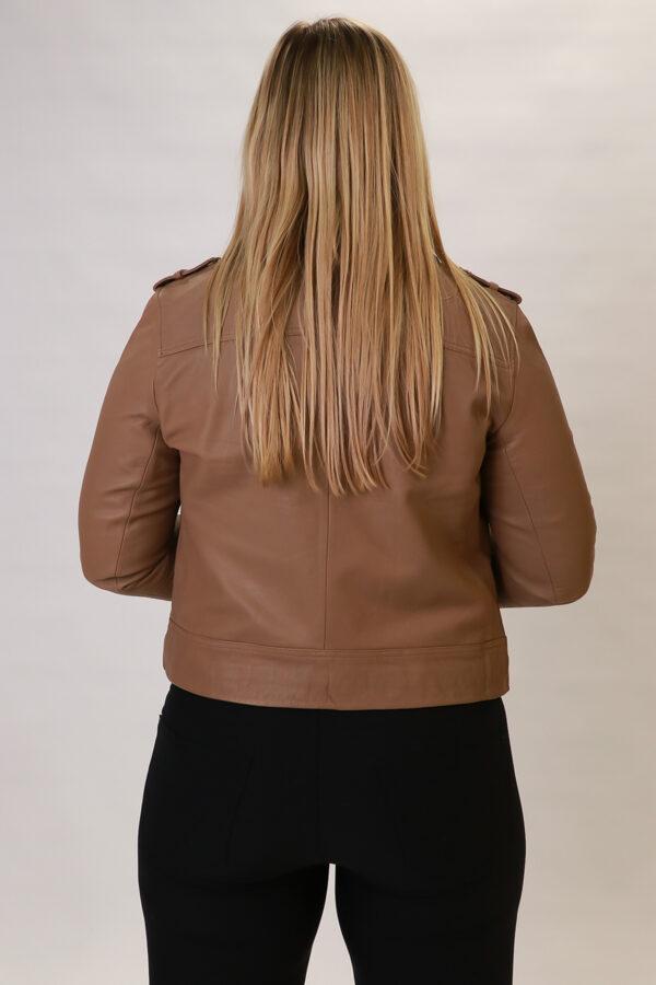 """Oui"" dabīgās ādas jaka"