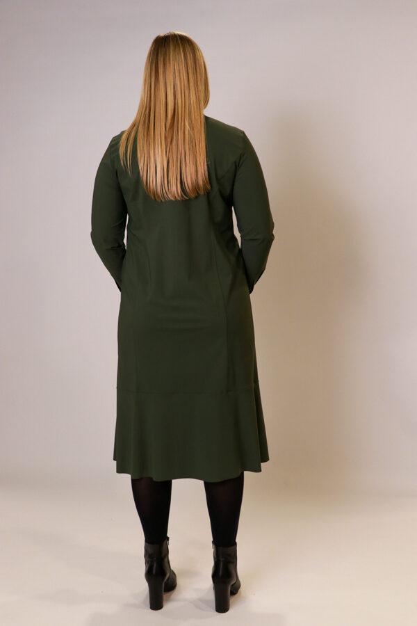 """""""Backstage"""" olīvju krāsas kleita"""