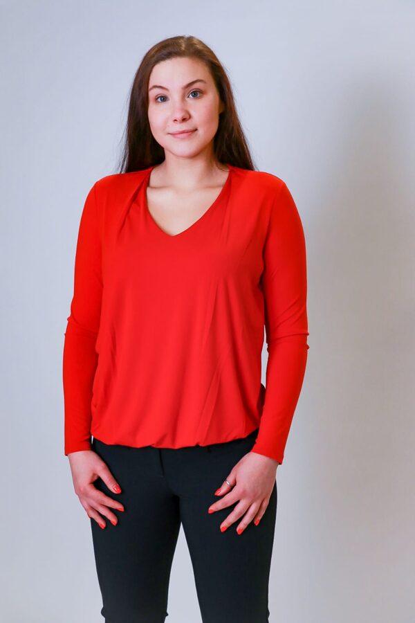 """OUI"" sarkans džemperis"