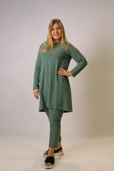 """""""Zeitlos"""" zaļa tunika/kleita"""